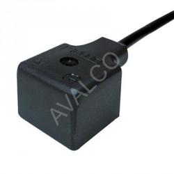 Connecteur forme A-2+T-LED+VDR 24 V - Cable 3,0 M