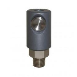 Coupleur de sécurité à bouton ISO 6150C DN5.5 corps fileté G1/2