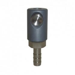 Coupleur de sécurité à bouton ISO 6150C DN5.5 sortie cannellée D.10
