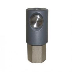 Coupleur de sécurité à bouton ISO 6150C DN5.5 corps taraudé G3/8