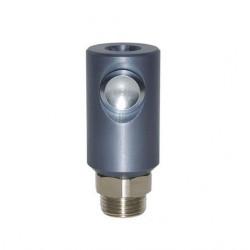 Coupleur de sécurité màle à bouton ISO 6150C-14 DN8 corps fileté G1/2