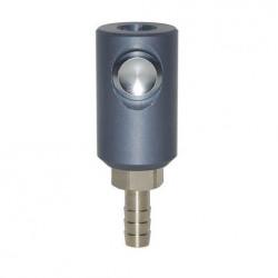 Coupleur de sécurité à bouton ISO 6150C 14 DN8 sortie cannellée D.8