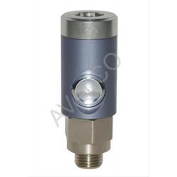 Coupleur de sécurité à bouton ISO 6150B DN5.5 corps fileté G1/4