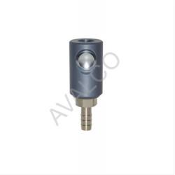Coupleur de sécurité à bouton ISO 6150C 14 DN8 sortie cannellée D.10